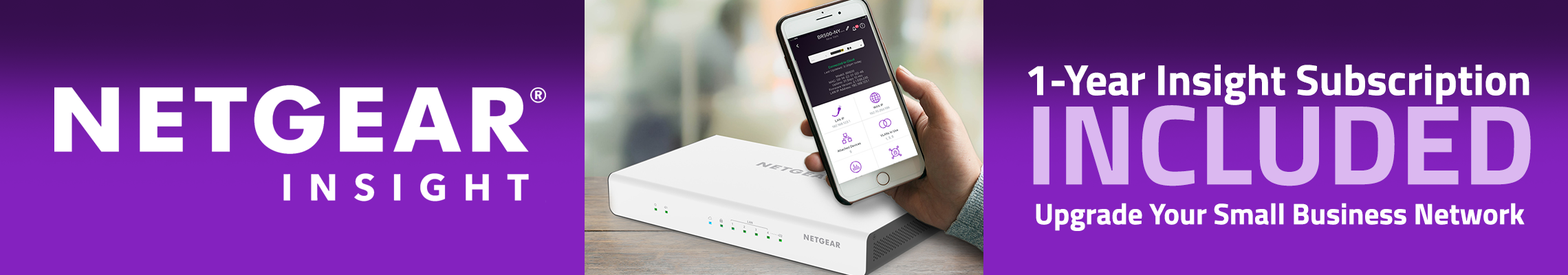 NETGEAR One-Year Insight Subscription Included