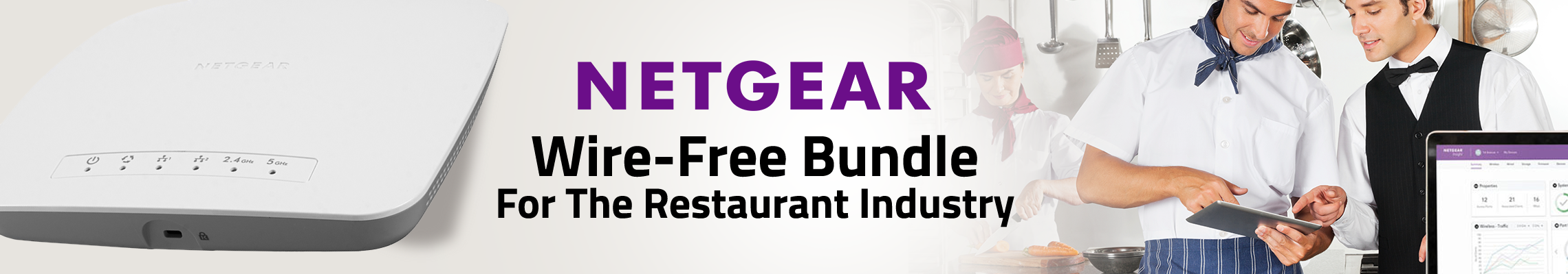 NETGEAR Wire-Free Bundle For The Restaurant Industry